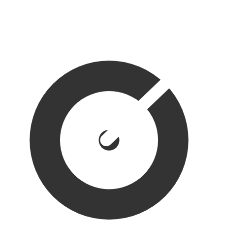 White new product target icon