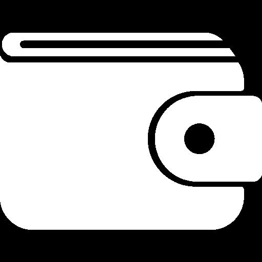 White wallet icon